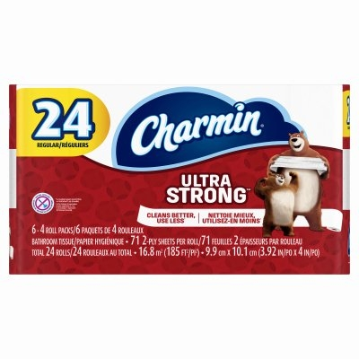 24 pk. Charmin Ultra Strong 2-Ply Toilet Paper