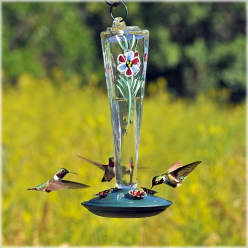 Birdscapes® Violet Meadow Glass Hummingbird Feeder