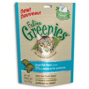 Greenies Feline Ocean Fish Flavor Treats 3 oz.