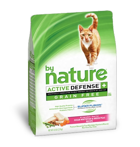 By Nature Grain Free Ocean Whitefish & Green Peas Recipe Cat Food