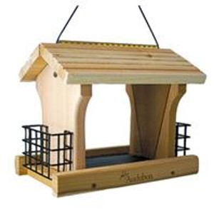 Cedar Wood Ranch Style Bird Feeder W/suet Holders
