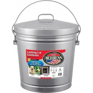 6 Gallon Locking Lid Galvanized Can