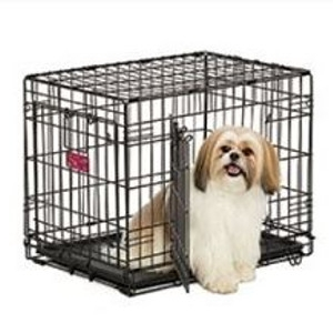 LifeStages® Double Door Dog Crate 30 x 21 x 24