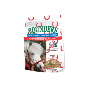 Peppermint Flavored Rounders Horse Treats