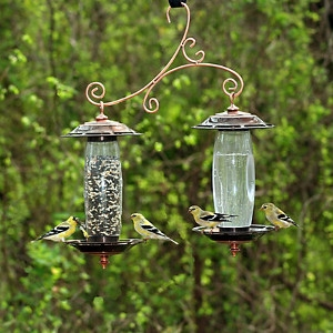 Copper Garden Sip And Seed Bird Feeder