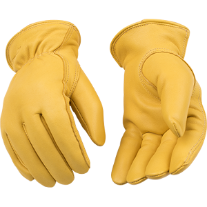 Cold Weather Deerskin Thermal Leather Gloves