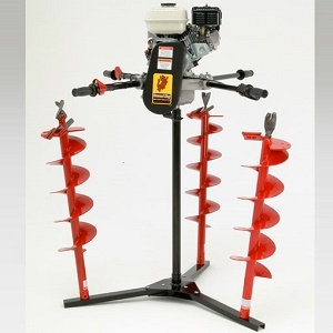 Ground Hog Earth Drill, 2-Man, 5.5hp Honda Engine