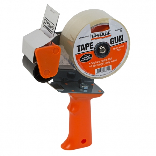 Tape Gun Dispenser With 1 Roll Clear Poly Tape 55 Yards