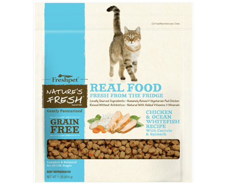 Freshpet Nature's Fresh Grain Free Chicken & Ocean Whitefish Cat Food Recipe