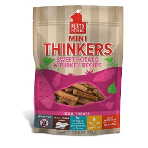 Plato Pet Treats Mini Thinkers Sweet Potato & Turkey