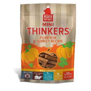 Plato Pet Treats Mini Thinkers Pumpkin & Turkey