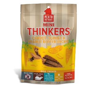 Plato Pet Treats Mini Thinkers Carrot, Turkey & Peanut Butter