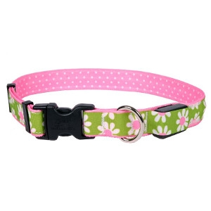 Yellow Dog Design Green Daisy ORION LED Dog Collar