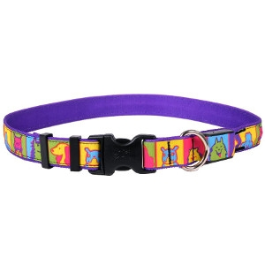 Yellow Dog Design Pop Art ORION LED Dog Collar