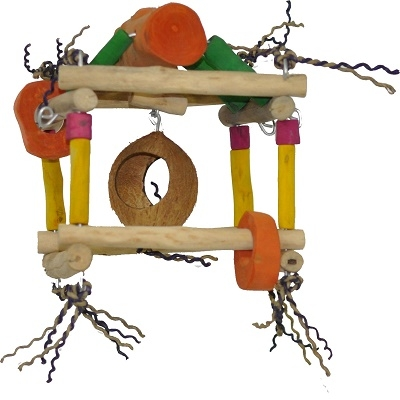 A&E Cage Company Java Wood Bird Toys