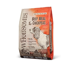 Wholesomes™ Grain-Free Beef Meal & Chickpeas Recipe for Dogs