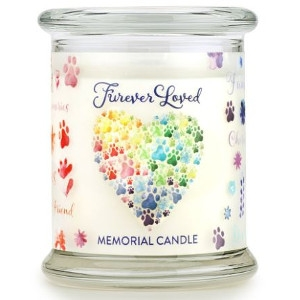One Fur All Furever Loved Memorial Candle