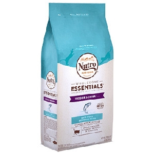Nutro wholesome Essentals™ Indoor Senior Cat Food White Fish & Whole Brown Rice Recipe 3lb