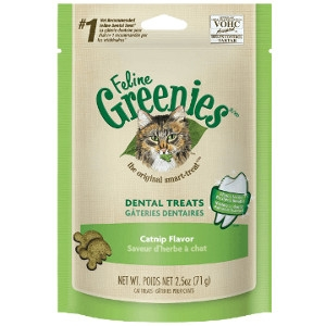 Feline Greenies™ Dental Treats Catnip Flavor 11oz Tub