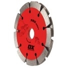 OX Professional PDTP 4.5in Sandwich Segmented Double Tuck Pointing Diamond Blade