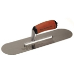 "Marshalltown 16 X 4 1/2"" High Carbon Steel Pool Trowel w/Curved DuraSoft® Handle"