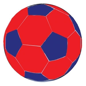 MEGA BALL SOCCER BALL COVER Blue&Red/30 In.