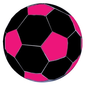 MEGA BALL SOCCER BALL COVER Pink&Black/40 In.