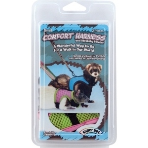 Super Pet Comfort Harness With Stretchy Leash
