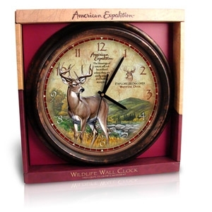 American Expedition™ Whitetail Deer Signature Series Wall Clock