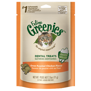 Feline Dental Treats Oven Roasted Chicken Flavor