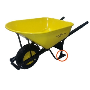 Single Yellow Wheel Barrow Steel 6cu