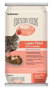 Nutrena Country Feeds Layer 16% Crumble