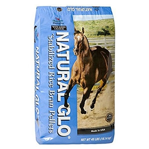 Natural Glo® Stabilized Rice Bran Pellets for Horses