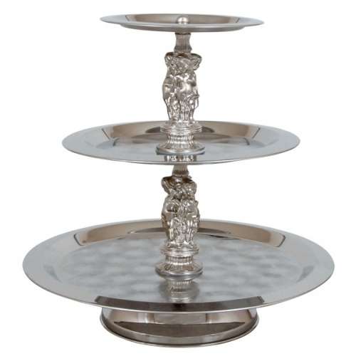 Serving Tray 3 Tiered Stainless (Plain)