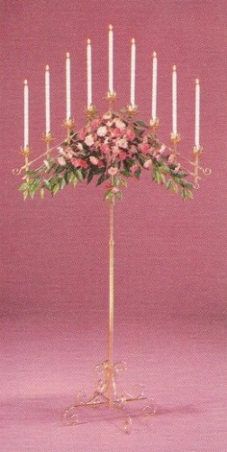 10 Branch Candelabra With Globes
