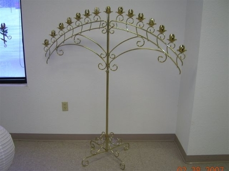 Fifthteen Branch Brass Candelabra