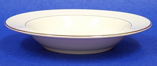 Cereal Bowl Diplomat/ Off White With Gold Trim