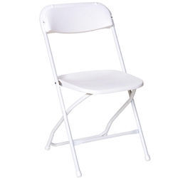 White Vinyl Folding Chair