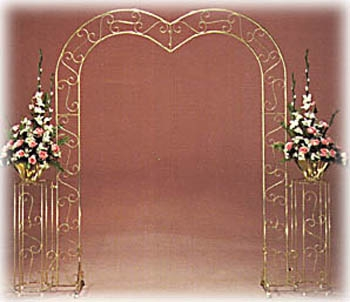 Brass Arch-Heart Top