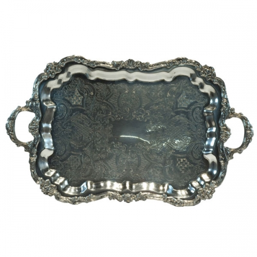 Silver Medium Rectangle Tray
