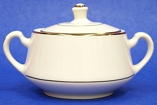 Sugar Bowl Diplomat/ Off White With Gold Trim