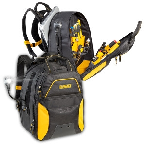 Dewalt 33-Pocket Lighted USB Charging Tool Backpack