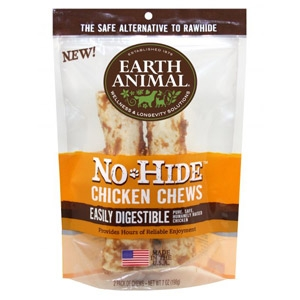 "Earth Animal® No-Hide 4"" Chicken Chews 2-Pack"