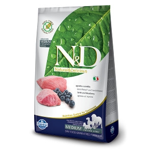 N&D Lamb & Bluberry Complete Dog Food