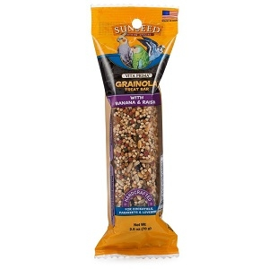 Sunseed Vita Prima Grainola Bird Treat Bar with Banana & Raisin