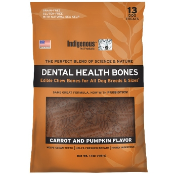 Indigenous Carrot & Pumpkin Dental Health Bones for Dogs
