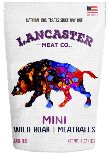 Wild Boar Mini-Meatballs Dog Treats by Lancaster Meat Co.