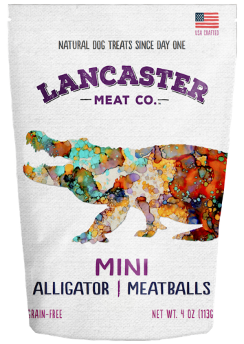 Alligator Lamb Mini-Meatballs Dog Treats by Lancaster Meat Co.