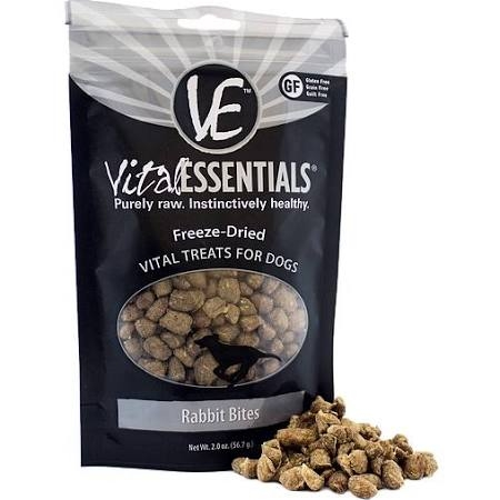 Vital Essentials Rabbit Bites Freeze-Dried Dog Treats