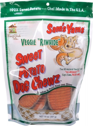 Sam's Yams Veggie Rawhide Sweet Potato Dog Treats